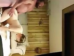 Husband, Wife, Hot blonde tied by guy with mask and doing blowjob and riding cock, Pornhub