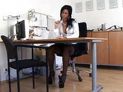 Black, Secretary, Milf seduces boy, Xhamster