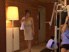 French, Sauna, Ann lesbian seduction the sauna, Xhamster